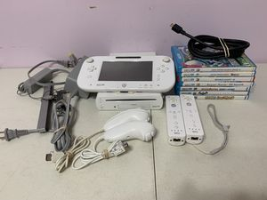 Nintendo Wii U system with 7 games for Sale in Brooklyn Park, MD