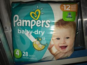 Pampers size 4 diapers for Sale in Mesa, AZ