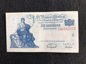 Fifty cents Argentinian banknote from the 1940s for Sale in Hollywood, FL