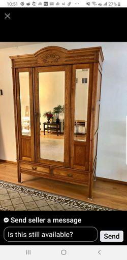 Antique walnut armoire rare for Sale in Benicia,  CA
