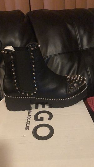 Size 9 women studded black boots for Sale in St. Louis, MO