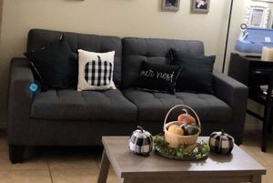 Gray couch and love seat for Sale in Fontana, CA