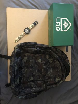 LRG Backpack, Shoes, and Watch for Sale in Chino Hills, CA
