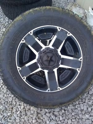 Rockstar truck tires and rims very good condition for Sale in Shelbyville, TN