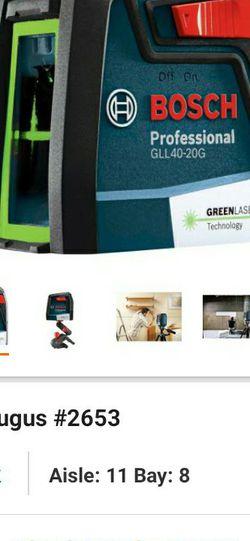 Bosch Green Cross Line Laser for Sale in Peabody,  MA