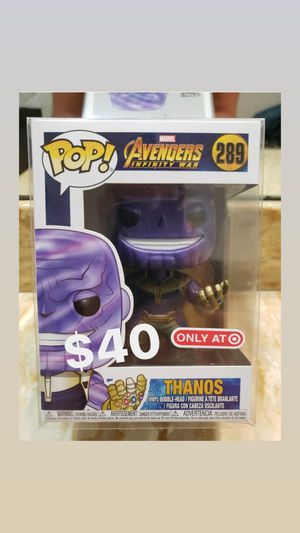 Target exclusive thanos infinity war funko pop for Sale in Fontana, CA