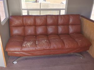 Leather Futon for Sale in Queen Creek, AZ