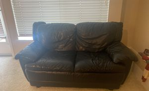 Black leather couches for Sale in San Jose, CA