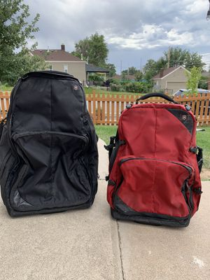 Victorinox rolling luggage, backpack, carry on for Sale in Denver, CO