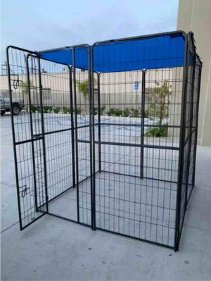 "New 72"" Tall x 32"" Wide Panel Heavy Duty 8 Panels Dog Playpen Pet Safety Fence Adjustable Shape and Space with Sunshade Tarp Canopy Cover for Sale in Montebello, CA"