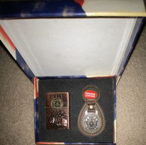 Rare Vintage FireFighter Zippo Lighter & Leather Firefighter Keychain for Sale in Norton, OH