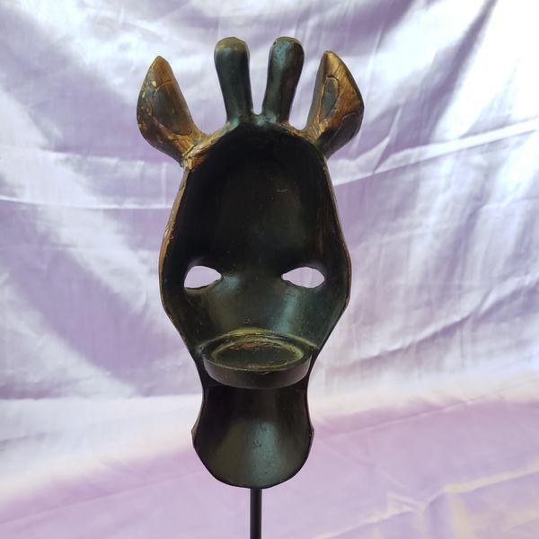 Resin Giraffe Mask Candle Holder