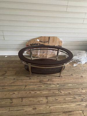 Coffee table with glass included for Sale in Springfield, VA