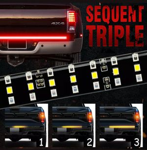 🚨🚦NEW 3X BRIGHTER TRUCK TAILGATE LED STRIP 3RD BRAKE LIGHT! 5 SIGNAL FUNCTIONS🚦 for Sale in Ontario, CA