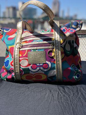 Fun Multi-Colored Authentic Coach handbag for Sale in Dallas, TX
