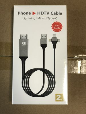 HDMI for iPhone/Android/TypeC plug and play for Sale in Upland, CA