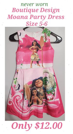 NEVER WORN Adorable Childrens Moana Party Dress by Ling Qi Shizu for Sale in Buford, GA