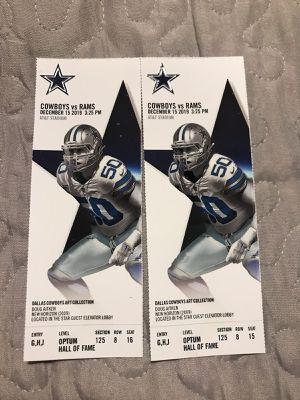 Dallas Cowboys vs Los Angeles Rams for Sale in Carrollton, TX