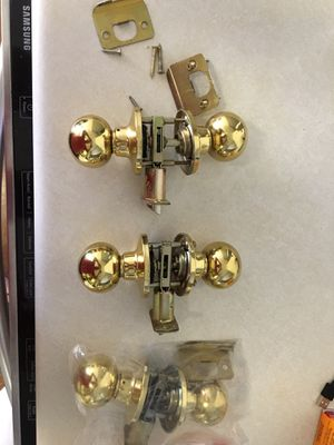 3 brass door knobs for hallway or closet for Sale in Austin, TX