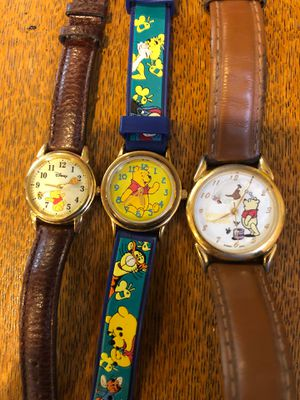 3 Rare Winnie The Pooh Walt Disney Classic Watches for Sale in Chino Hills, CA