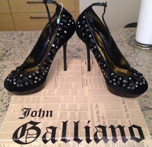 John Galliano gem detailed velvet platform pumps for Sale in Miami, FL