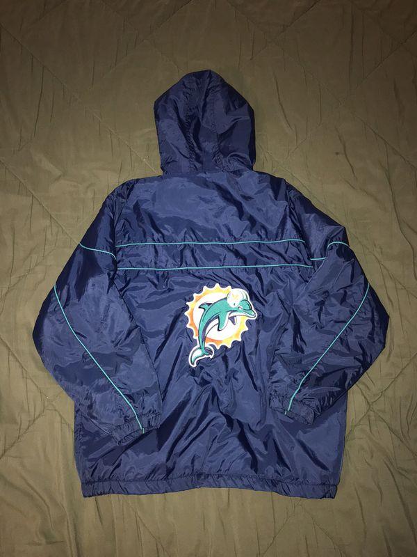 a1ae71e9 Vintage Miami Dolphins Old Logo NFL Hoodie Jacket Windbreaker. Men's XL for  Sale in Tamarac, FL - OfferUp