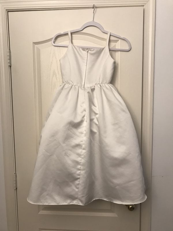 David's Bridal WHITE bridesmaid dress size 8