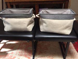 "Gray cloth baskets 13""L x 10""w x 8 1/2"" H for Sale in Tempe, AZ"