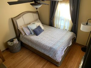 Queen size upholstered bed frame for Sale in Schenectady, NY