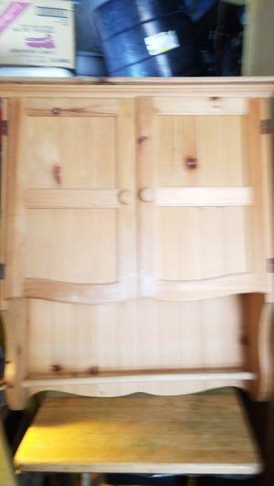 un finnish wooden medicine, kitchen cabinet, Towel rack. $30 for Sale in Huntington Beach, CA