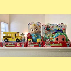 Cocomelon Musical Bundle JJ Plush Doll, Doctor Checkup Set, and School Bus Set for Sale in Avocado Heights,  CA