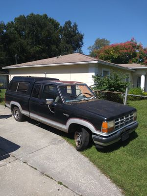 89 ford ranger 82,000 miles lost title truck needs battery it has been sitting for a while but it ran last time i checked. for Sale in Tampa, FL