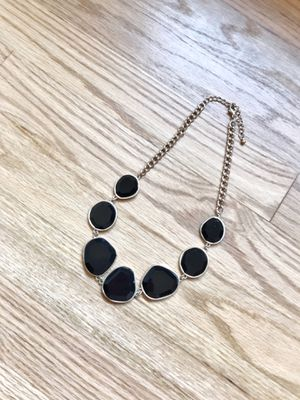 Black Gemstone & Gold Chain Necklace for Sale in Dallas, TX