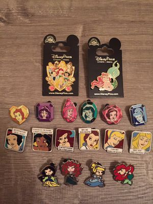 18 Disney pins tradable princess set for Sale in Orlando, FL