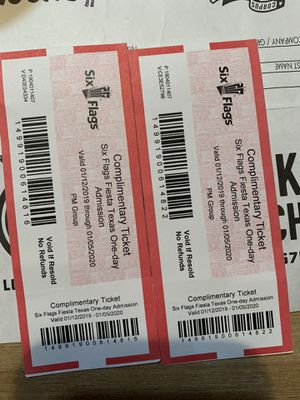 Six flags tickets for Sale in Corpus Christi, TX