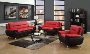 Enna Red/Black Sofa & Loveseat | U2705 byGlobal $729.00 for Sale in Baltimore, MD