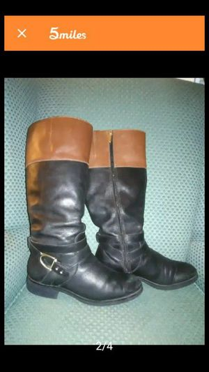 Bandolino Shoes   Leather Knee High Boots   Color: Black/Brown for Sale in Dallas, TX