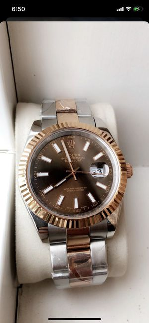 Rolex datejust II - 41mm two tone rose gold chocolate dial for Sale in Garden Grove, CA
