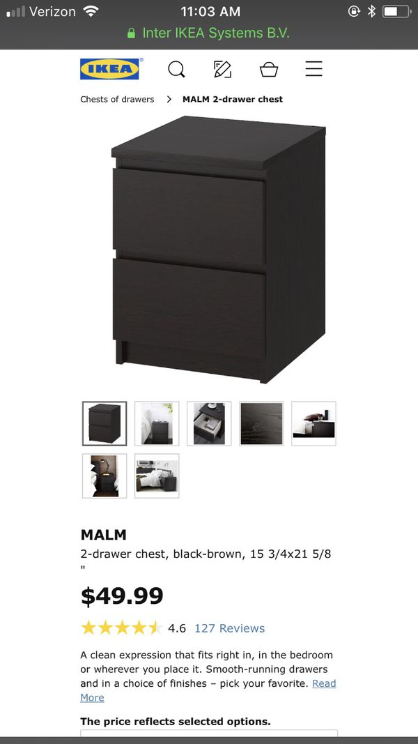 IKEA malm nightstand $35/e or $55/both