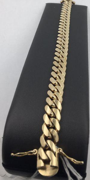 8/12 in Cuban Link Bracelet 14 K gold 71.2 grams for Sale in Pompano Beach, FL
