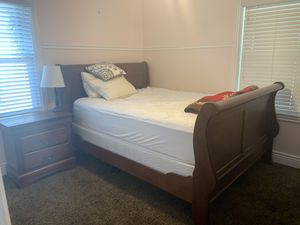Queen bedroom set with dresser/mirror/night stand & mattresses. OBO. for Sale in Salt Lake City, UT