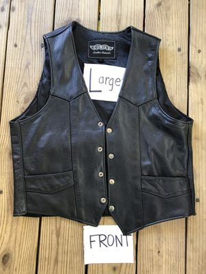 Leather motorcycle vest for Sale in Woodbridge, VA