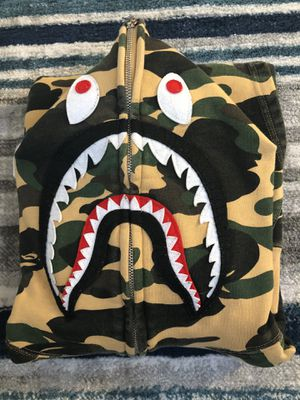 Bape full zip shark hoodie - size L for Sale in San Diego, CA