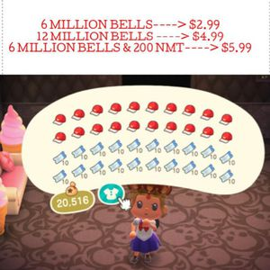 Animal Crossing Bells and Nook Mile Tickets!!!! for Sale in Vancouver, WA