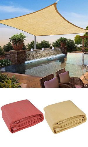 New $32 each 12x12' Square Sun Shade Sail UV Top Cover Outdoor Patio Canopy (Tan or Red) for Sale in El Monte, CA