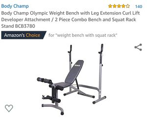 Body champ bench and squat/weight rack for Sale in Hawthorne, CA