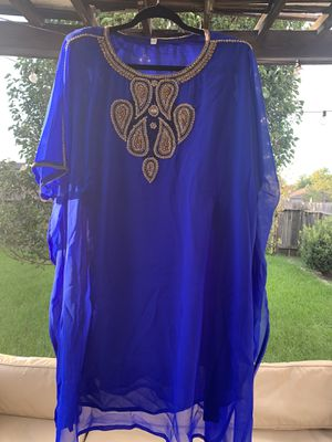 Blue dress/long shirt - one size fits most for Sale in Houston, TX