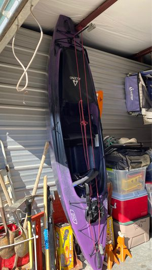 Kayak with paddles and life jacket with garmin fish finder for Sale in Commerce City, CO