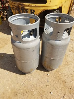 Two Aluminum Forklift propane cylinders. for Sale in Austin, TX