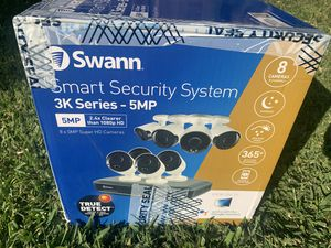 Smart security system SWANN 5mp 2.4x clearer than 1080HD for Sale in Sacramento, CA